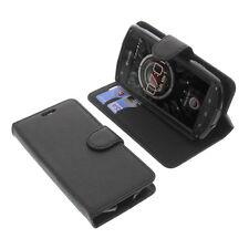 étui pour Kyocera KC-S701 Torque Style Livre Etui Coque GADGET Noir