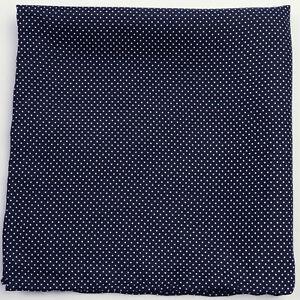 New Mens Navy / White Polka Dot 100% Silk Handkerchief Pocket Square