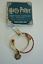 Alex and Ani Harry Potter Gryffindor 2 Pc Set Beaded Bracelet Wire Gold Tone NEW