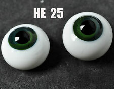 16mm Dark Blue Green Iris Glass Round BJD Eyes for MSD DOD DZ AOD Volks Dollfie