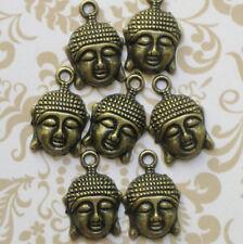 5 Buddha Charms Antique Bronze Tone - BC007