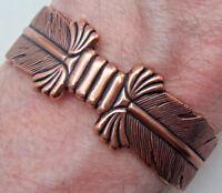 Copper Cuff Bracelet Bow Wheeler Manufacturing Healing Arthritis Folklore cb 093