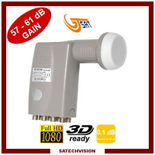 LNB Octo GT-SAT GT-OCT40 0,1 dB Gain 57-61 dB Tête 8 Sorties Full HD 3D Ready