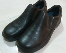 NEW  HUSH PUPPIES  MEN'S  LEATHER  CASUAL SHOES SLIP ON  SIZE  US 10.5  BROWN