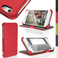 """Rosso Eco Pelle Custodia Cover per Apple iPhone 6 4.7"""" 2014 Supporto Flip Case"""