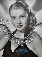 VINTAGE 1950s STUNNING AURORA BOREALIS CRYSTAL FRINGE NECKLACE BRIDAL PARTY GIFT