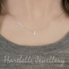 Sterling Silver Initial Alphabet Letter Personalised Charm Pendant Necklace &Box