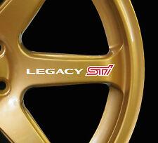 Subaru Legacy WRX STI 8 x logo decal graphics stickers for alloy wheels white