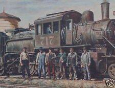 JOHN DUSKO LIMITED ED. Painting  READING RAILROAD Train