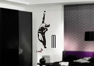CRICKET BOWLER Wall Art Sticker, decal, 3 x sizes, Mural, Transfer, Vinyl