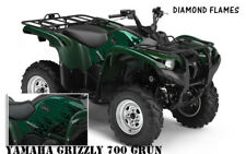 AMR RACING DEKOR ATV YAMAHA GRIZZLY GRAPHIC KIT DIAMOND FLAMES DECALS, DECOR B