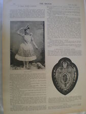 Photo article interview music hall singer Vanoni 1894 Ref R
