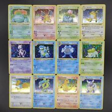 Lot de 55 Cartes Pokémon Première Edition   Holo & Rares   Cartes Anglaises