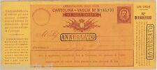 """55376 - ITALIA REGNO -  CARTOLINA VAGLIA Postale: 20 Lire ANNULLATO - V 6 """"C"""""""