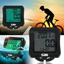Wired LED Backlight Cycling Bike Bicycle Computer Odometer Meter speedometer CO