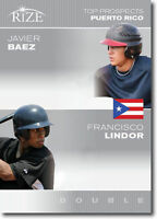 "FRANCISCO LINDOR & JAVIER BAEZ 2012 LEAF RIZE ""TOP PROSPECTS"" ROOKIE CARD!"