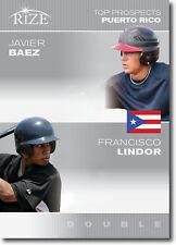 """FRANCISCO LINDOR & JAVIER BAEZ 2012 LEAF RIZE """"TOP PROSPECTS"""" ROOKIE CARD!"""