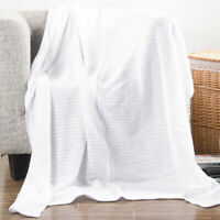 Battilo 100% Soft Premium Cotton Thermal Waffle Blanket Couch Quilt