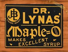 """TIN SIGN """"Dr Lynas Maple"""" Syrup Rustic Kitchen Breakfast Wall Decor"""