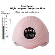 Professional 108W LED UV Nail Dryer Gel Polish Lamp Light Curing Machine Pink UK