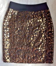 New THE LIMITED Size: 4 Pencil SKIRT Black & Gold FREE SHIPPING Юбка Женская
