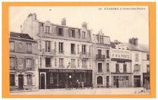 ETAMPES (91) BUREAU de POSTE & CAFE de L'HOTEL DE VILLE animés avant 1904