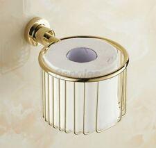 Bathroom Accessories Golden Brass Wall Mounted Toilet Paper Holders 8ba624