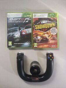 Xbox 360 Wireless Speed Wheel Driving Bundle