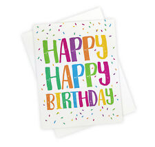 Rainbow Sprinkles Fun Birthday Card For Kids