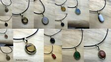NATURAL STONE PENDANTS GEMSTONE NECKLACE IN BRASS HAND MADE IN INDIA FASHION A++