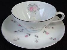 Harmony House China Rosebud Flat Cup And Saucer Set