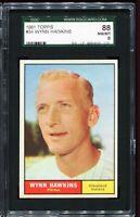 1961 Topps #34 WYNN HAWKINS Cleveland Indians SGC 88 NM-MT