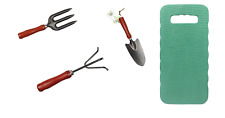 Garden Hand Fork, Trowel, Rake & Kneeling Mat Tools Planting Vegetable Gardening