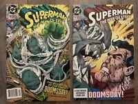 Superman Man Of Steel 18 19 1st 2nd App Doomsday, Simonson 1992 1993 DC Comics