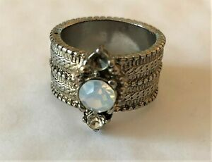 Antique Effect Chunky Gold Colour with Gemstone Ladies Ring