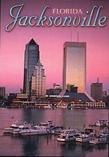 Jacksonville Florida Twilight St. John's River Modis Building Boats FL, Postcard