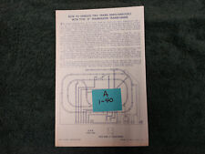 LIONEL SE TRANSFORMER HOW2 OPERATE 2 TRAINS SIMULTANEOUSLY INSTRUCTION ORIGINAL