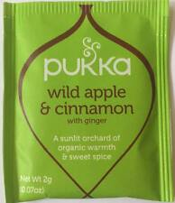 Pukka Tea 20 Sachets Organic Herbal Teabags - Wild Apple & Cinnamon