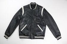 Coach 1941 Mens Black White Leather Teddy Varsity Bomber Jacket M Medium $1100