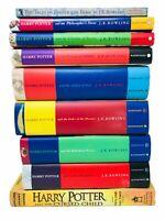 Harry Potter Complete Hardcover Set Bloomsbury Raincoast JK Rowling Lot 9 Books