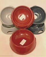 2 Bowls 0.77L Pet Dog Food Bowl Water Dish Feeding Animal Plastic Cat