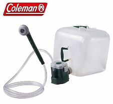 Coleman Portable Shower Water Carrier Kit with Motor Pump Camping Yard Outdoor
