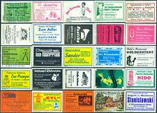 25 alte Gasthaus-Streichholzetiketten aus Deutschland #881