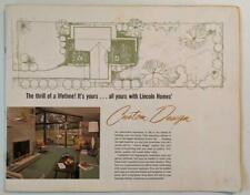 ca. 1960 s ARCHITECTURAL FLOOR PLAN CATALOG LINCOLN HOMES PRE FABRICATED DESIGNs