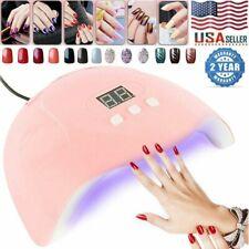 54W Pro Nail Polish Dryer Lamp LED UV Gel Acrylic Curing Light Manicure Timer US