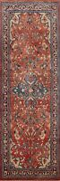 Antique Floral Traditional Runner Rug Wool Hand-Knotted Oriental Carpet 4x10 ft