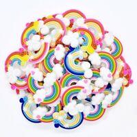 50pcs Colorful Rainbow PVC Shoe Charms/Ornaments Fit Clog/Bracelet/Hole Shoes