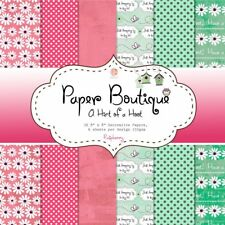 "BARGAIN PAPER BOUTIQUE PADS 8"" X 8"" - HINT OF A HOOT-RASPBERRY FOR CRAFTS"