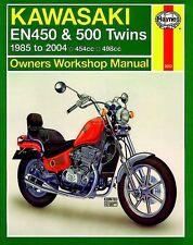 NEW Haynes Manual For Kawasaki EN450,EN500 1985-2007