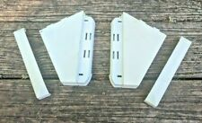 OEM Frigidaire Kenmore Washer Dryer Left Right End Cap Set 131122711 131122701